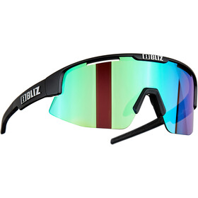 Bliz Matrix M12 Glasses matt black/brown with green multi